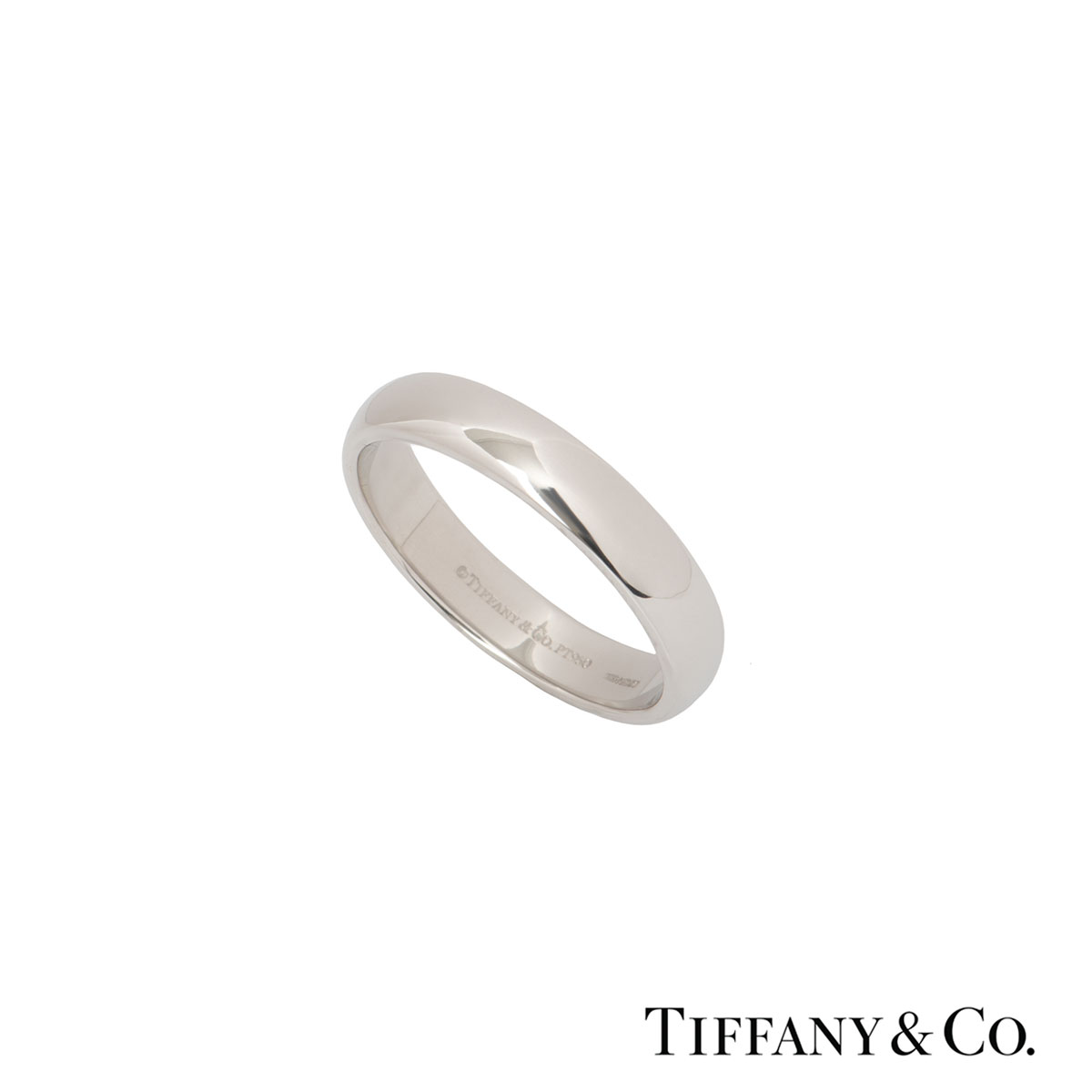 Tiffany & Co. Platinum Lucida Wedding Band